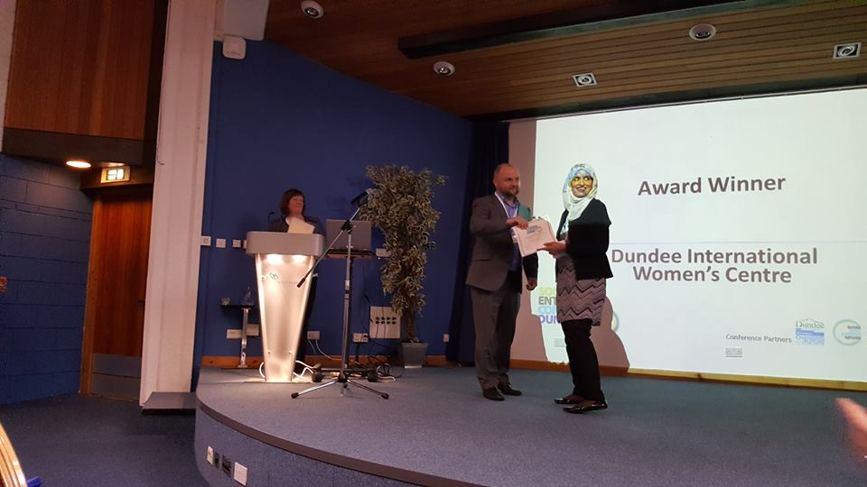 Receiving the Best Social Impact award