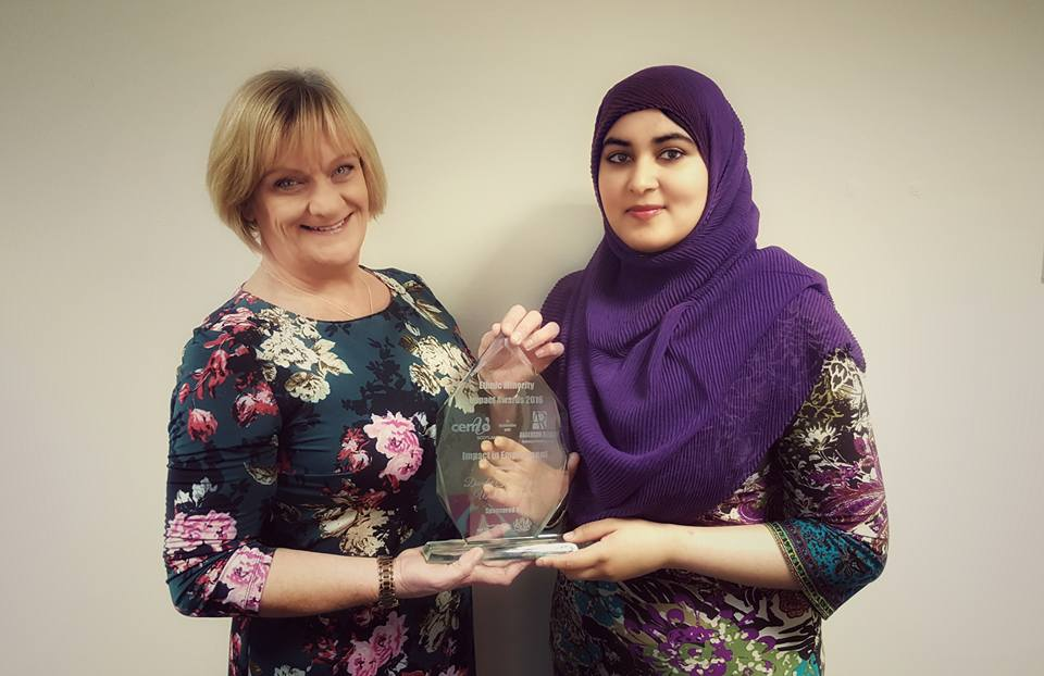 Alison & Shamila with the Ethnic Minority Impact Award