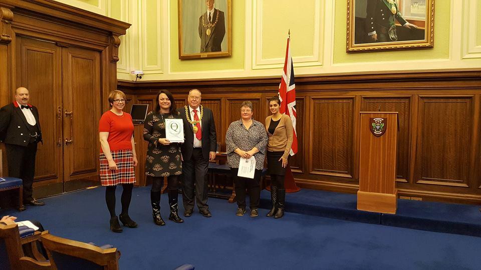 Receiving the Good Governance Award