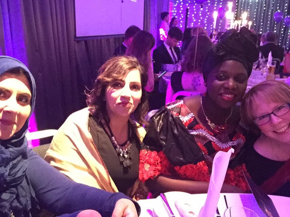 At the Women Ahead Award Ceremony