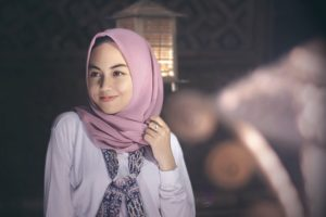 young woman in hijab