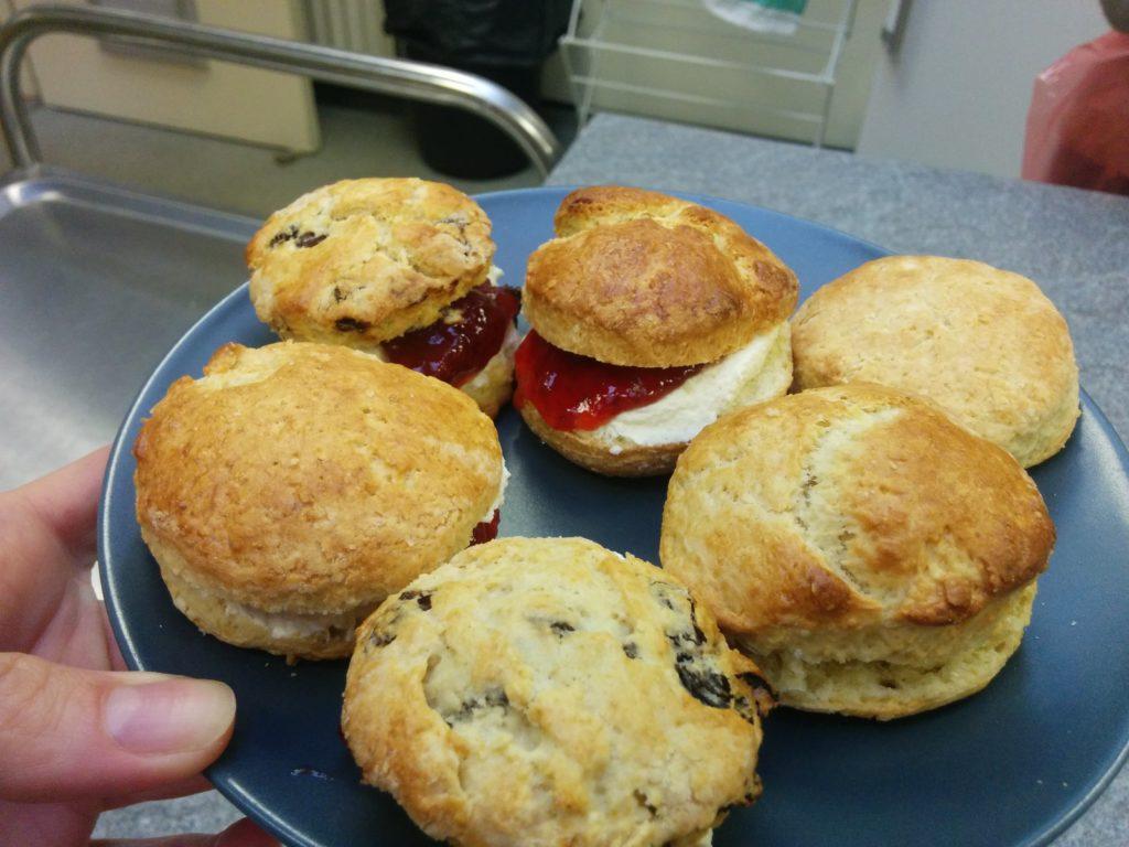 Freshly baked scones - Baking class, Dundee International Women's Centre